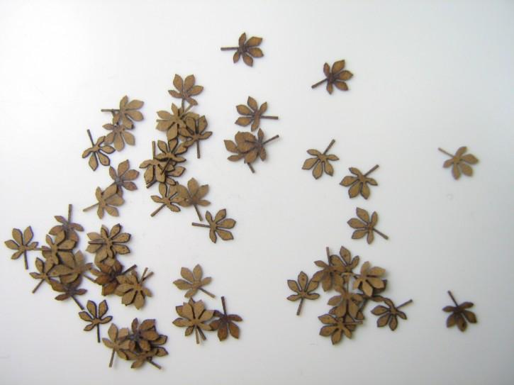 """Blätter Kastanie """"braun"""""""