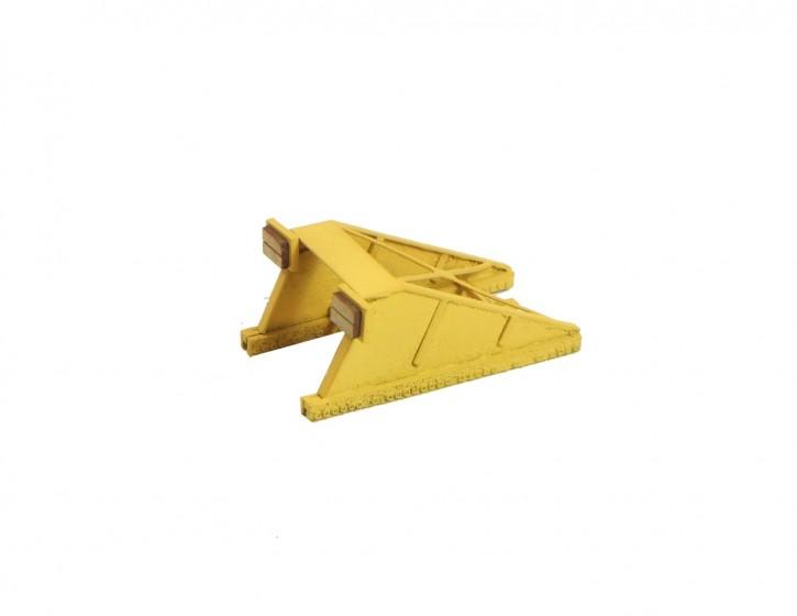 Prellbock 1, gelb