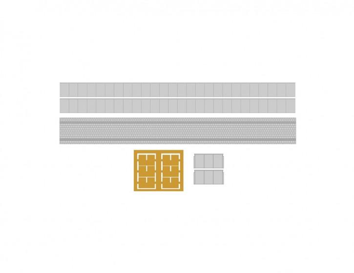 32,2 mm Bahnsteig Set 3 Abschluss+LS