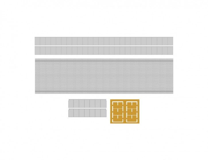 110 mm Bahnsteig Set 4 Abschluss+LS