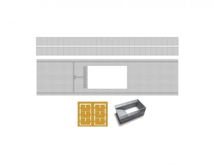 75,2 mm Bahnsteig Set 3 Abgang+LS