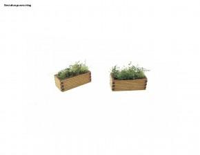 Bausatz Bahnsteig Blumenkübel, schmal