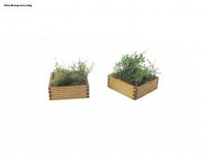 Bausatz Bahnsteig Blumenkübel, breit